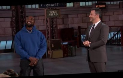 Kanye West Promises Not to Sleep Until Album Is Out, Appears on 'Kimmel' (Watch)