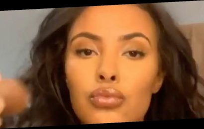 Stormzy's ex Maya Jama puts on busty display in eye-popping nude illusion video