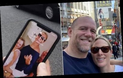 Mike Tindall reveals adorable family snap on his phone's home screen