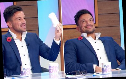 Peter Andre admits he puts socks down his pants so it looks like he has a huge bulge – then gets it out on Loose Women – The Sun