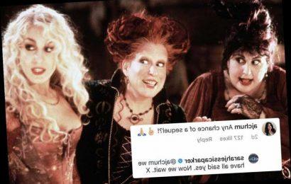 Sarah Jessica Parker confirms the Hocus Pocus original stars including Bette Midler will return for sequel