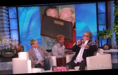 Eric Stonestreet Gets the Ultimate Scare After Ellen DeGeneres Dedicates Iconic Scare Table to Him