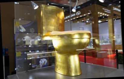 $1.3M toilet, golden and covered in diamonds, could set a record