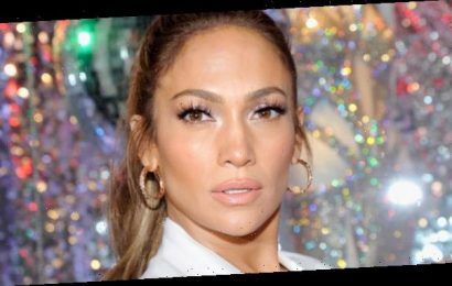 Jennifer Lopez Kicked Off the Holiday Season with a Silver Tinsel Pantsuit