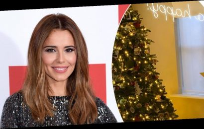 Cheryl house: Star shows off incredible Christmas decorations and reveals matching pyjamas with son Bear