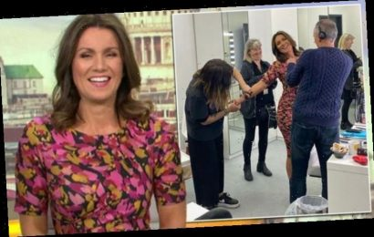 Susanna Reid caught backstage on GMB as 'vast army' frantically prepare her for ITV show