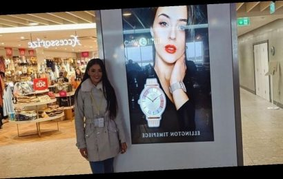 Woman with £80 to her name shows 'hard work pays off' with face on billboard