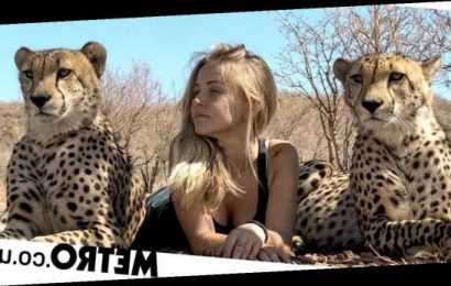 Woman born at animal sanctuary sleeps among the cheetahs