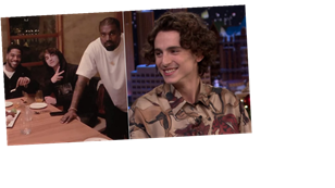 Timothée Chalamet Thought He Was Having Dinner with Kid Cudi, Then Kim and Kanye Walked In