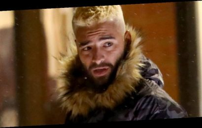 Maluma Bundles Up for Dinner in Aspen