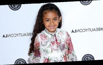Chris Brown's Daughter Royalty, 5, Gets All Dolled Up In Red Tulle Princess Gown To Meet Santa