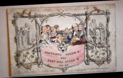 World's very 1st Christmas card on display