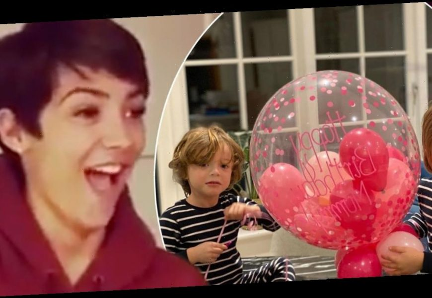 Frankie Bridge shares adorable video of her sons surprising her on her birthday