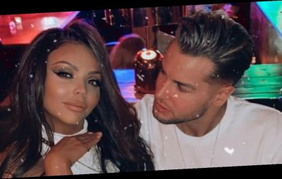 Jesy Nelson flashes bra in see-through top in Chris Hughes PDA session