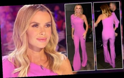 Amanda Holden: BGT judge appears to go braless in tight jumpsuit as fans question pout
