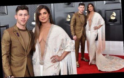 Priyanka Chopra nearly spills out of Grammy Awards dress before husband Nick Jonas' mishap