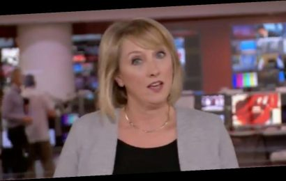 BBC newsreader Martine Croxall in hysterical live blunder but stays ice cool