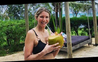 Lisa Faulkner bares all in skimpy bikini on steamy honeymoon with John Torode