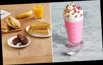 Costa launch their spring menu including a PINK hot chocolate