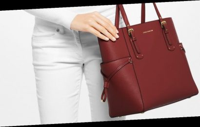 A Beautiful Leather Michael Kors Tote Bag for Under $150? Believe It!