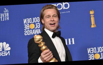 Brad Pitt Makes a Titanic Dad Joke During His Golden Globes Speech