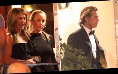 Brad Pitt & Jennifer Aniston Attend Same Golden Globes After-Party