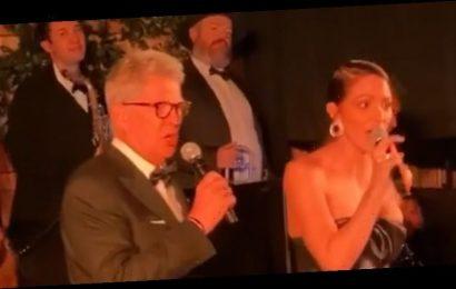 Katharine McPhee & David Foster Sing 'Proud Mary' at Erin Foster's Wedding – Watch!