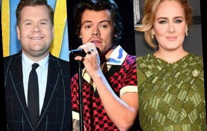 Adele, Harry Styles and James Corden Vacation in the Caribbean