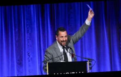 Adam Sandler Finally Accepts an Acting Award at National Board of Review Gala