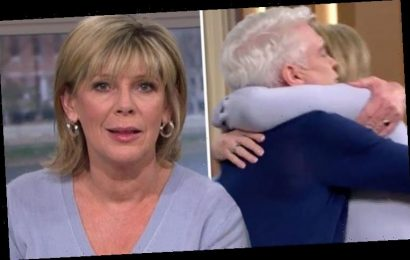 Ruth Langsford hugs Phillip Schofield as he announces he's gay on This Morning