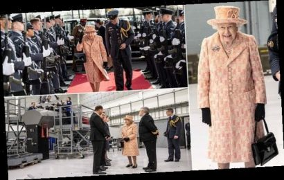 The Queen visits a Royal Air Force station in Marham