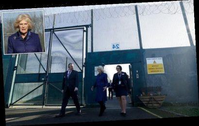 Duchess of Cornwall puts on stylish display as she visits women's jail