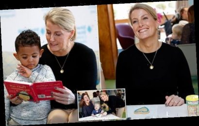 Sophie Wessex visits a children's hospice