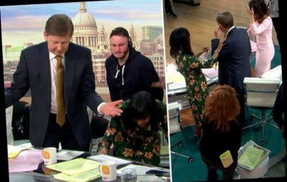 Good Morning Britain descends into chaos as Bill Turnbull loses his earpiece while stepping in for Piers Morgan – The Sun