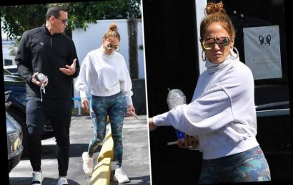 JLo and fiance ARod look miserable on gym outing days after heated fight – The Sun