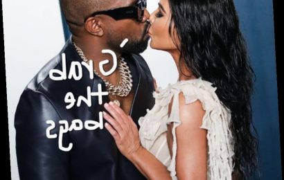 Kim Kardashian & Kanye West Get Caught In Elevator Makeout Sesh — But Twitter Is Roasting The Rappe