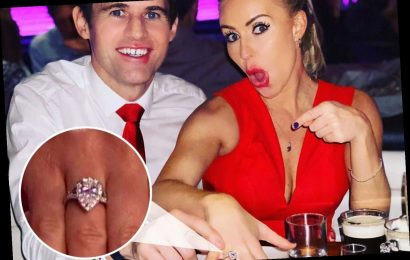 Dancing on Ice's Kevin Kilbane fears £30k engagement ring he gave to fiancée Brianne Delcourt is FAKE – The Sun