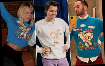 Stars poke fun at their 'crap' lives with $700 sweater