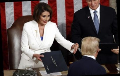 Trump Ignored Nancy Pelosi's Outstretched Hand At The State Of The Union And People Detect Shade