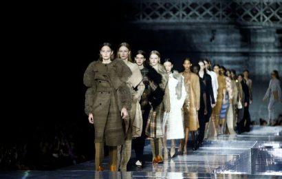Burberry's Tisci re-imagines classics in London runway show