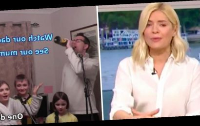 Holly Willoughby breaks down crying over family singing together during coronavirus lockdown