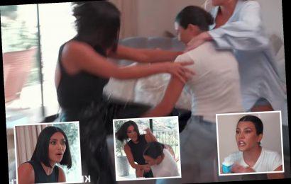 Kourtney Kardashian slams sister Kim's 'fat a**' during epic fight in new KUWTK teaser clip – The Sun