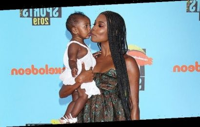 Gabrielle Union, 47, & Daughter Kaavia, 2, Blow Kisses & Ham It Up For The Camera: Watch
