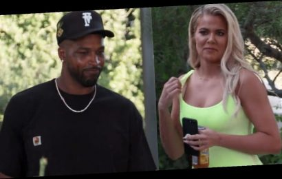 Khloe Kardashian Watched KUWTK Premiere with Tristan Thompson and It Was 'Awkward'