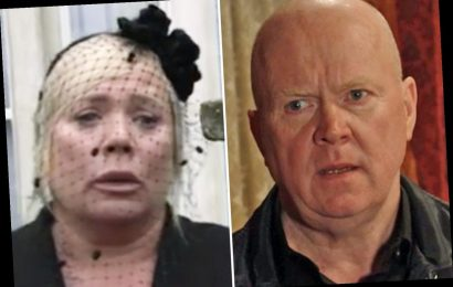 EastEnders fans claim Sharon and Phil will get back together after his shock return at Denny's funeral – The Sun