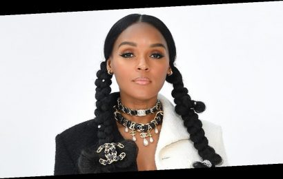 Janelle Monáe embraced the no-shirt trend in a black-and-white Chanel suit