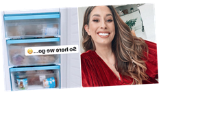 Stacey Solomon re-organises her freezer and the results are amazing