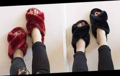 We're Picking Up These Affordable Fuzzy Slippers in Every Single Color