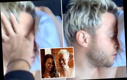 Olly Murs' girlfriend Amelia wakes him up by smacking him in the face as prank war rumbles on – The Sun