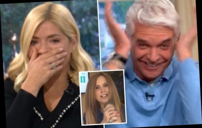 "Phillip Schofield and Holly Willoughby in hysterics as they beg guest with pet squirrel to stop 'rubbing its head off"" – The Sun"